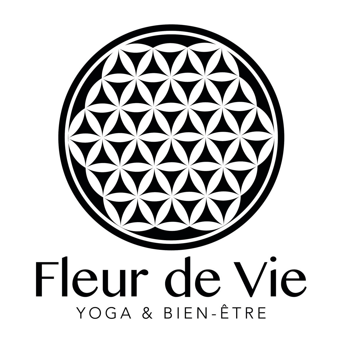 FLEUR DE VIE - LOGO NOIR CARRÉ